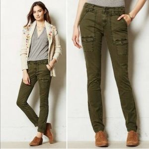 Anthropologie Pilcro Green Cargo Pants Sz 6